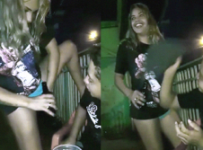 HOT: Wasted girl gives freebies in public